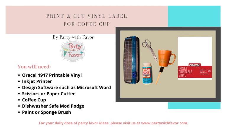 Learn How To Put Vinyl On Mugs (Ingredients)