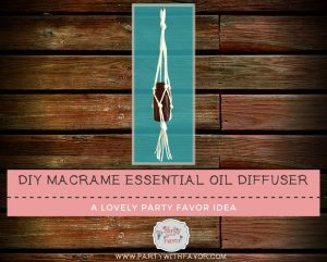 Easy To Make DIY Macrame Essential Oil Holder