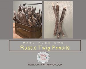 How To Make Wood Twig Pencils