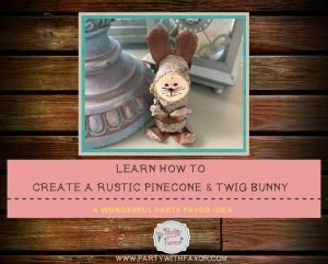 Inexpensive To Make Rustic Pinecone Twig Bunny