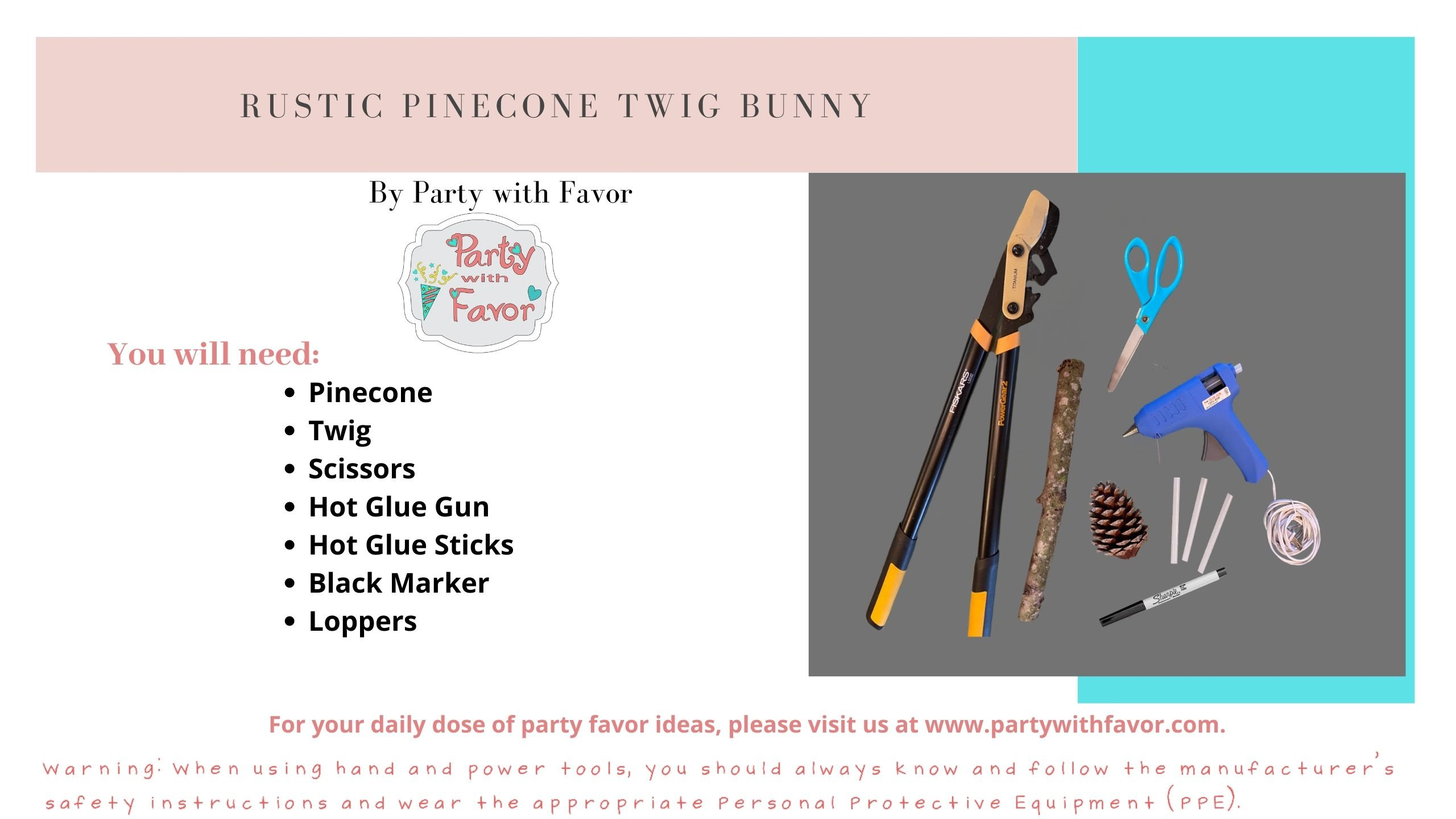 Ristic Pinecone Twig Bunny (Ingredients)