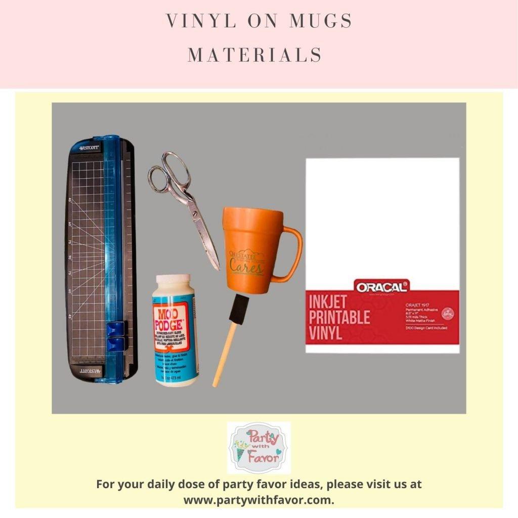 Vinyl On Mugs Materials