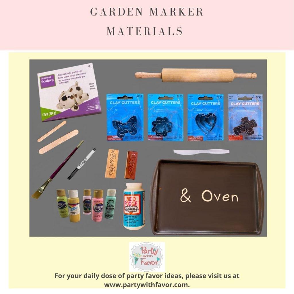 Garden Markers Materials