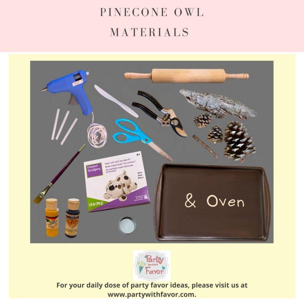 Pinecone Owl Materials