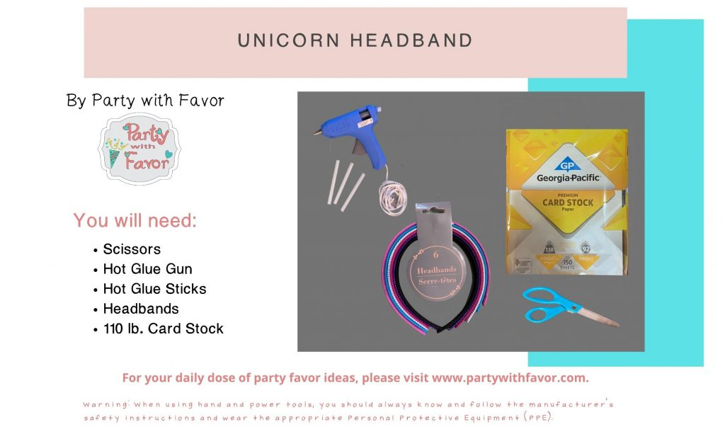 Unicorn Headband Ingredients