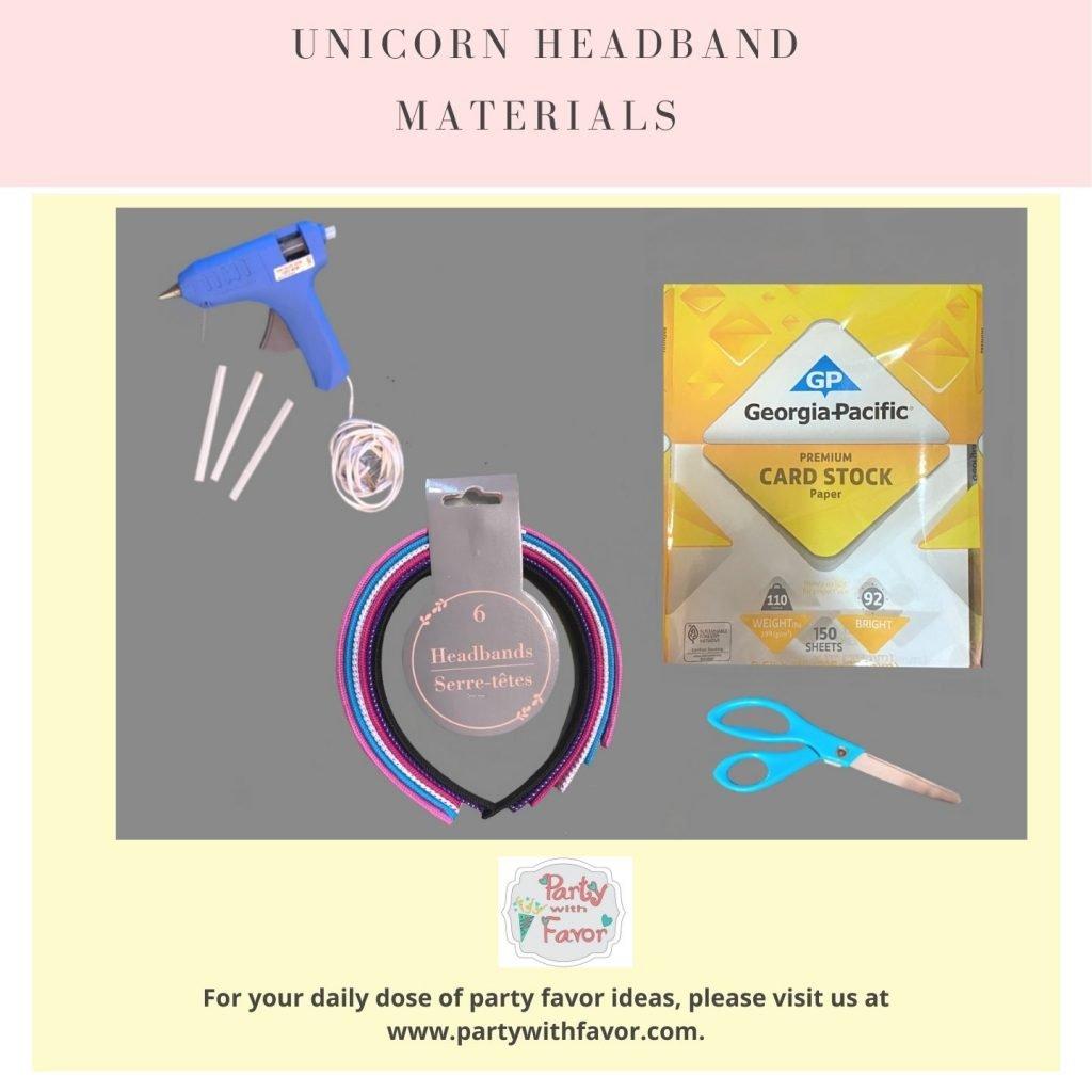 Unicorn Headband Materials