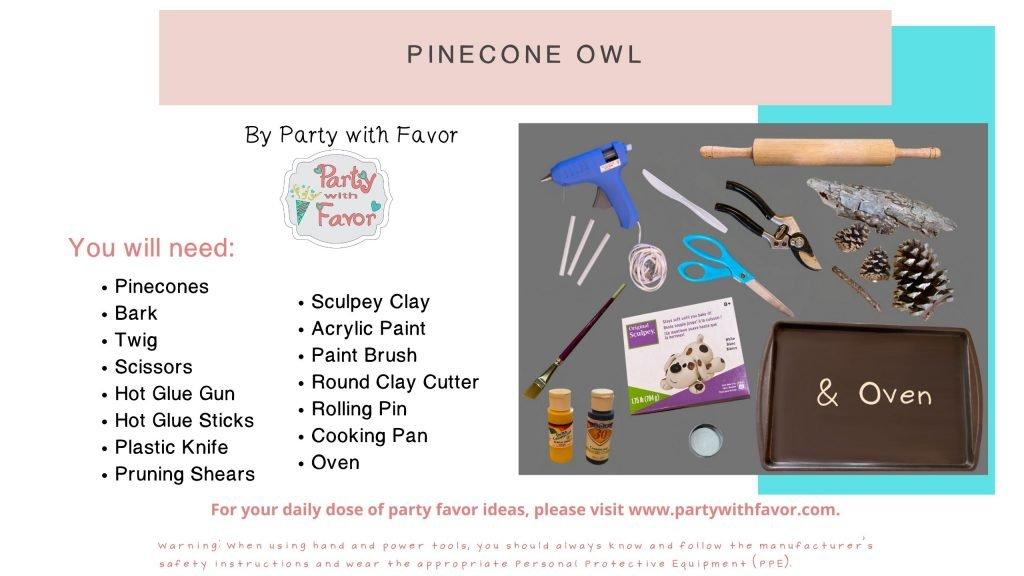 Wise Graduation Pinecone Owl (Ingredients)