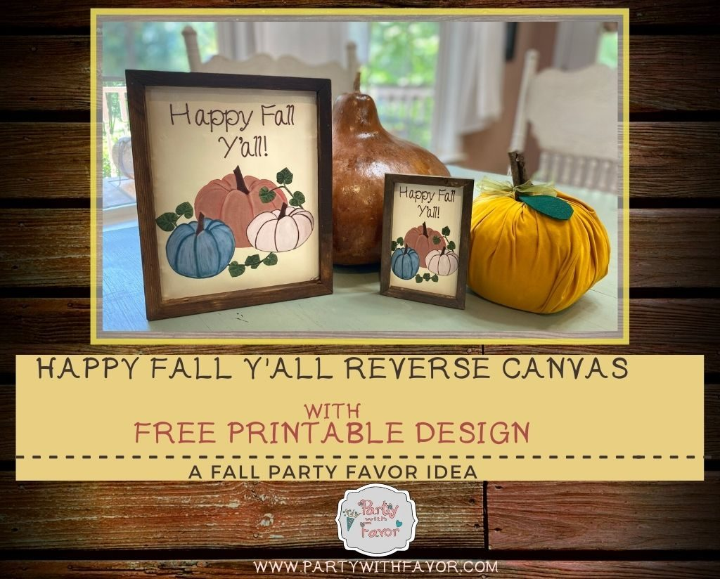 Happy Fall Y'all Reverse Canvas