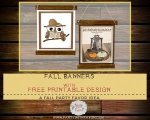 Fall Banners With Free Designs