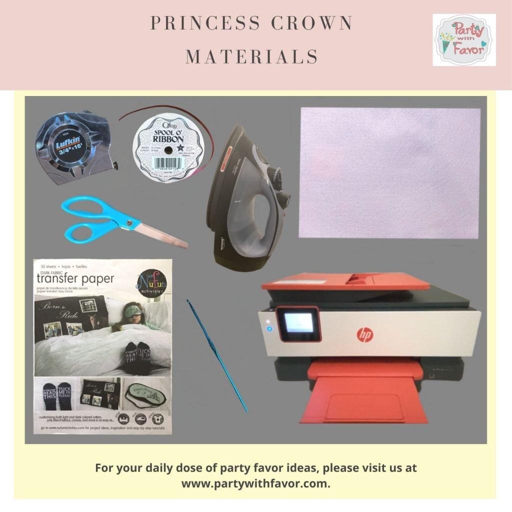 Princess Crown Materials
