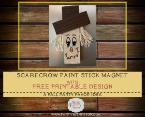 Happy Fall Scarecrow Magnet & Free Pattern