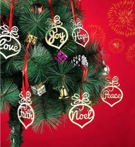 Best Christmas Party Favors - Wooden Christmas Ornaments