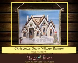 Read more about the article Stunning Christmas Snow Village Banner With FREE Printable