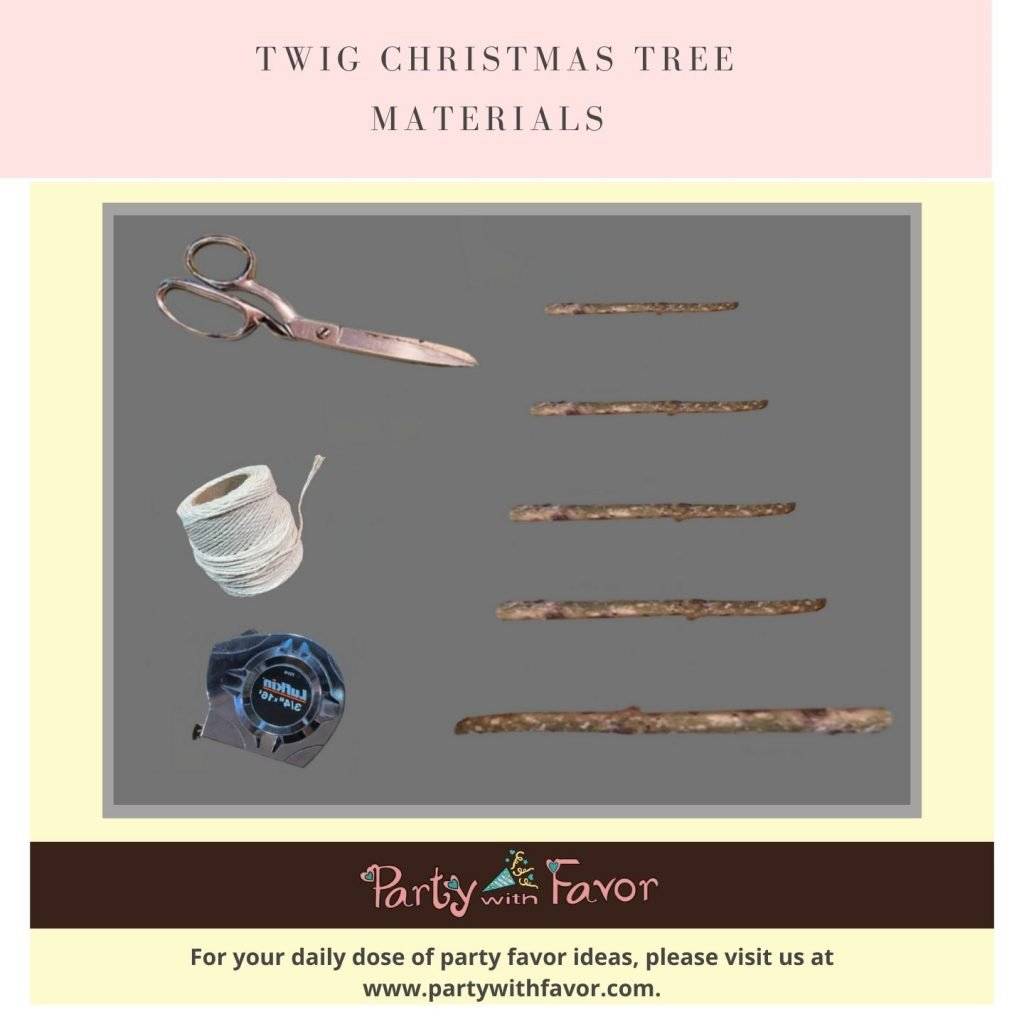 How to Make a Twig Christmas Tree - Materials