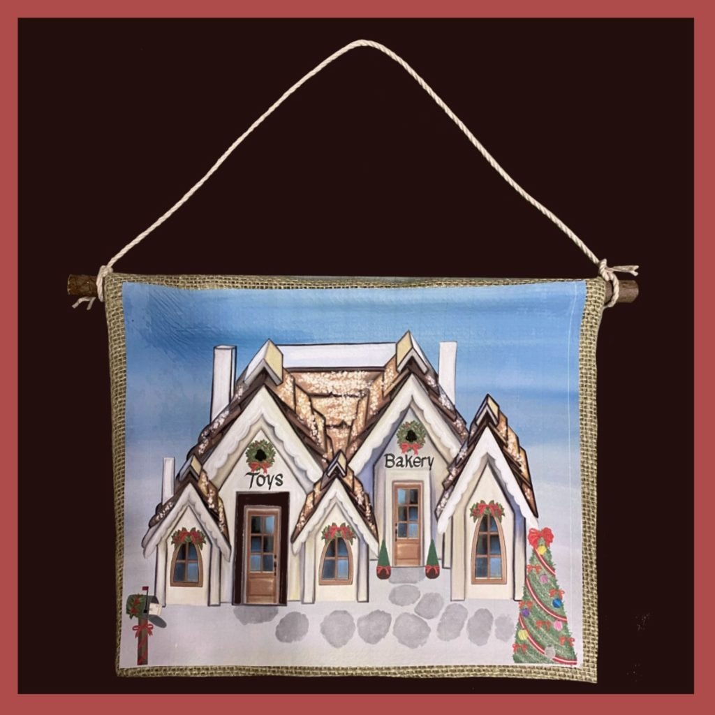 Stunning Christmas Snow Village Banner 11