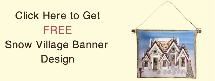 Stunning Christmas Snow Village Banner - Click Button
