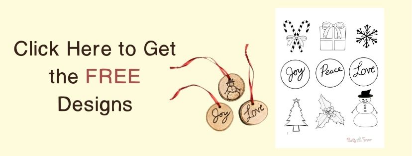 Wood Burned Christmas Ornaments - Click Button