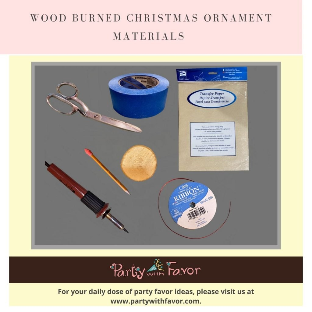 Wood Burned Christmas Ornaments - Materials