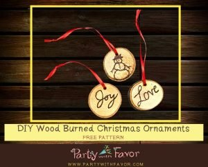 How to Make Wood Burned Christmas Ornaments: FREE Patterns